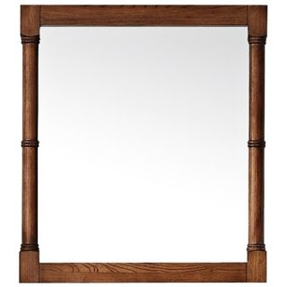 """Avanity Montage 28"""" Wide Chinese Oak Wall Mirror   #V4883"""