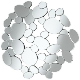 """Abstract Circles 31 1/2"""" High Openwork Wall Mirror   #W4505"""