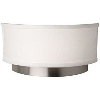 "Artcraft Scandia 12"" Wide Brushed Nickel Wall Sconce   #W9267"