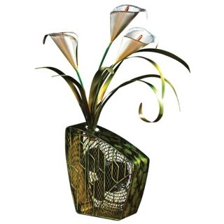 Deco Breeze Calla Lily Figurine Fan   #N0243