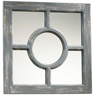 "Ashford 16 3/4"" Wide Distressed Gray Wood Wall Mirror   #X7224"