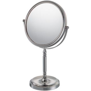 """Chrome Recessed Base Vanity Stand 13 3/4"""" High Mirror   #99935"""