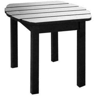 Black Finish Solid Wood Accent Table   #T4758
