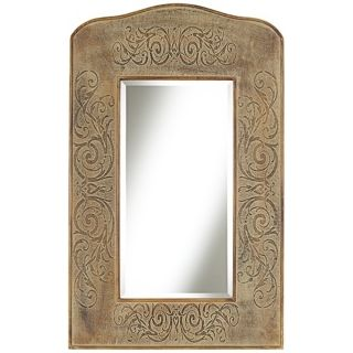 "Lisbeth Sand 41 1/4"" High Crown Wall Mirror   #W4772"