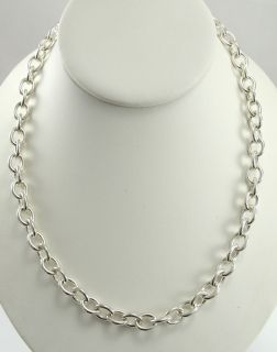 Genuine Judith Ripka Sterling Silver Chain Necklace Rolo Lobster Claw