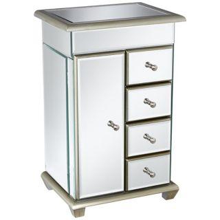 Mirrored Glass Jewelry Box   #X0129