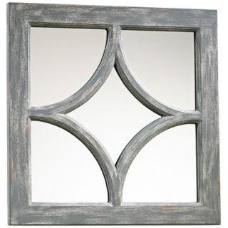 "Ashton Grey Wood 16 3/4"" Square Wall Mirror   #X7230"