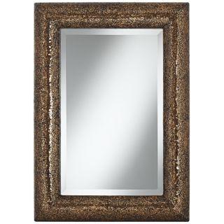 "Bronze 33"" Crackled Glass Mosaic Wall Mirror   #W8574"