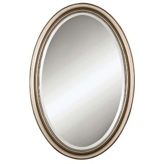 "Uttermost Petite Manhattan Silver Oval 31"" High Wall Mirror   #34016"