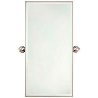 """Minka 36"""" High Rectangle Brushed Nickel Bathroom Wall Mirror   #V2157"""