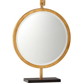 "Westwood 24 1/4"" High Gold Stand Mirror   #X7209"