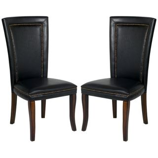 Fenwick Collection Set of 2 Faux Leather Chairs   #P1353