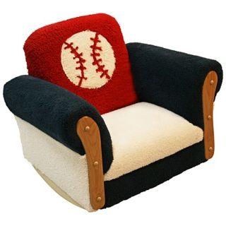 Deluxe Kids Baseball Rocker Chair   #W7757