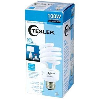 Tesler 25 Watt Warm White Energy Star Spiral CFL Bulb   #K7793