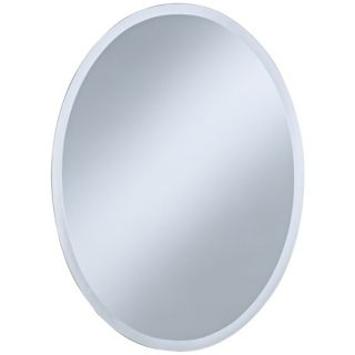 "Oval Regency 30"" High Beveled Wall Mirror   #P1383"