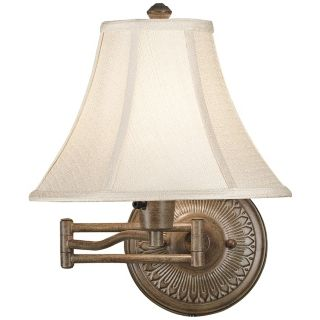Kenroy Home Amherst Nutmeg Plug In Swing Arm Wall Light   #R8797