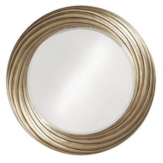 Burnished Silver Leaf Swirl 33 Wide Wall Mirror   #05779