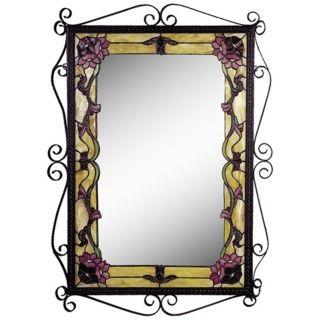 """Dale Tiffany Charmine 36"""" High Art Glass Wall Mirror   #X2704"""