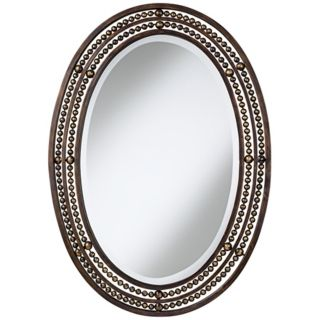 "Uttermost Matney Oval 34"" High Wall Mirror   #M2318"