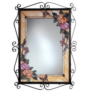 "Dale Tiffany Rohais 38"" High Art Glass Wall Mirror   #X2700"