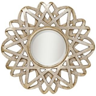 "Kichler Rebound Silver Leaf Finish 30"" Wide Wall Mirror   #T5139"
