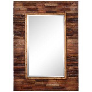 "Rustic Getaway Rectangular 40"" High Wall Mirror   #P7917"