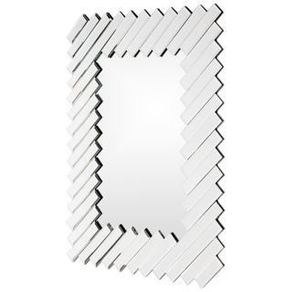 Beveled mirror glass frame. 43 high. 32 wide. 1 deep. Mirror glass