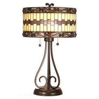 Dale Tiffany Giuseppe Art Glass Table Lamp   #M1686