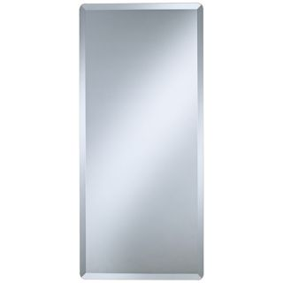 "Frameless Rectangular 40"" High Beveled Wall Mirror   #P1403"