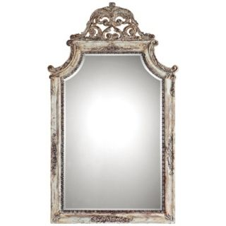 "Uttermost Portici 53"" High Antiqued Ivory Wall Mirror   #U6273"