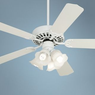 """52"""" White Knight White Ceiling Fan with Light Kit   #26847 M8161 88760"""