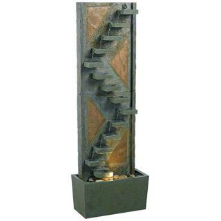 Kenroy Home Traverse Natural Slate Lighted Floor Fountain   #J3094