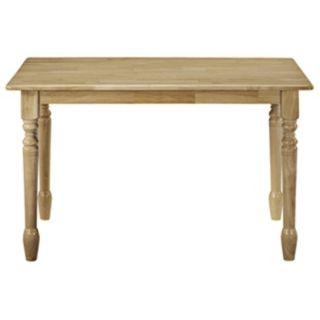 Natural Finish Solid Wood Dining Table   #U4179