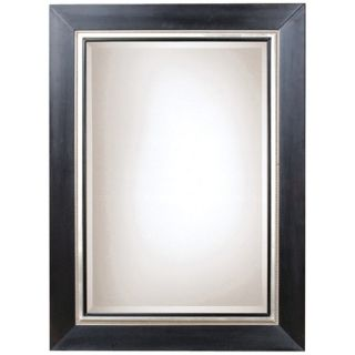 "Uttermost Whitmore 54"" High Black and Silver Wall Mirror   #38123"