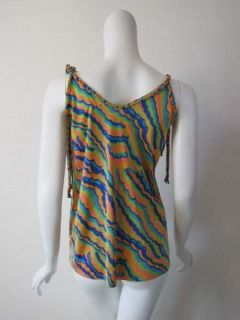 Julie Brown Womens Colorful Braided Tank Top s $248 New