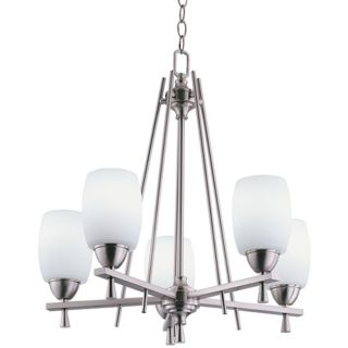 Ferros Collection ENERGY STAR Brushed Nickel Chandelier   #30893