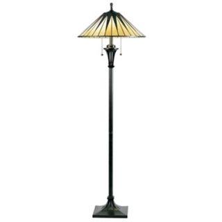 Dale tiffany pf50015 victorian downbridge floor lamp for Gotham tiffany style downbridge floor lamp