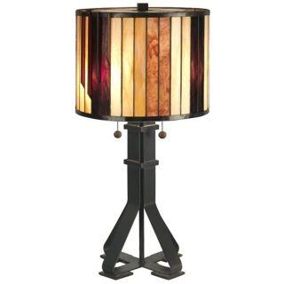 Dale Tiffany Geometric Art Glass Table Lamp   #X2671