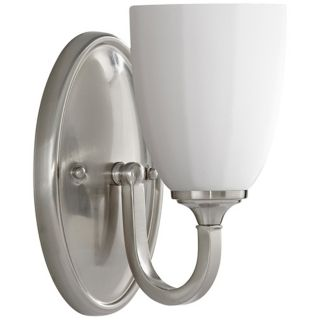 "Murray Feiss Perry 8 3/4"" High Brushed Steel Wall Sconce   #R9536"