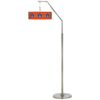 Auburn University Brushed Nickel Arc Floor Lamp   #H5361 Y3483