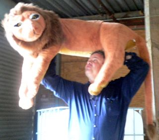 Giant Lion 46 Stuffed Realistic Lion King Big Plush