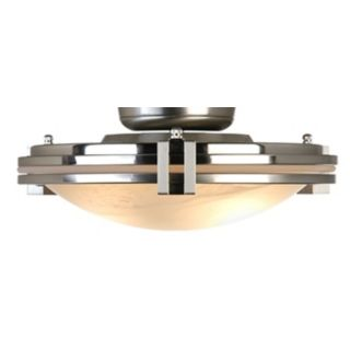Pull Chain Light Kit Brushed Steel w/ Alabaster Glass   #81785