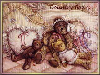 Miss Pink Pretty Prim Country Artist Bear by Clare Davis Tedd