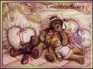 Miss Pink Pretty Prim Country Artist Bear by Clare Davis Tedd