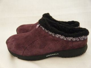 NWT Merrell Junior Girls Slip on Shoes Clogs Sheepskin Lining Size 3