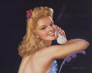 Jules Erbit 1930s Jazz Age Streamlined Art Deco Flapper Beauty Pin Up