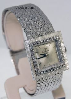 Jules Jurgensen Ladies 14k White Gold Diamond Box