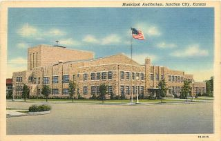 KS Junction City Municipal Auditorium Mail 1950 T39189
