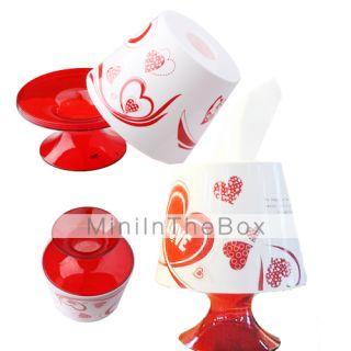 EUR € 7.85   floral vermelho secretária lâmpada tipo de tecido bin