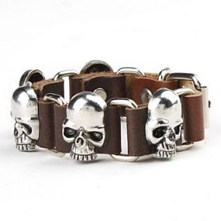 € 5.88   Sikringsanlæg Skull Studded Leather Bracelet, Gratis
